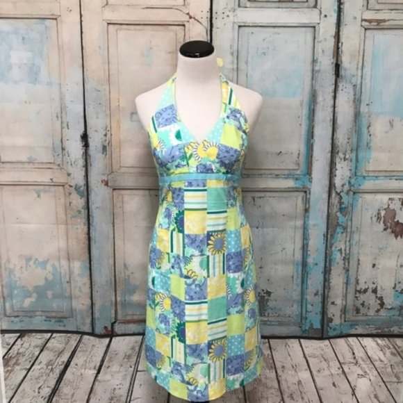 Lilly Pulitzer Dresses & Skirts - Lilly Pulitzer Zoo Trophy Patchwork Halter Dress